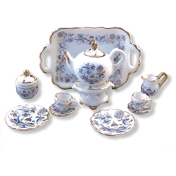 Tea Set – Gold Blue Onion