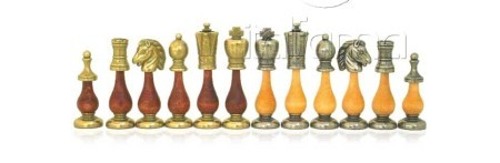 Chess Pieces – Metal – Wood