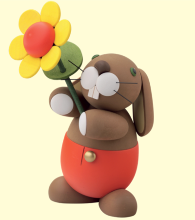 Bunny With Sunflower – Large