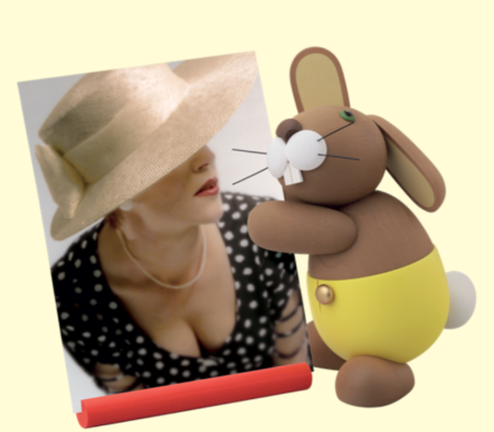 Bunny With Photo Holder – Large