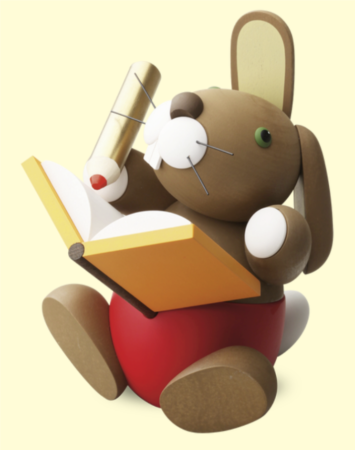 Bunny With Book – Large