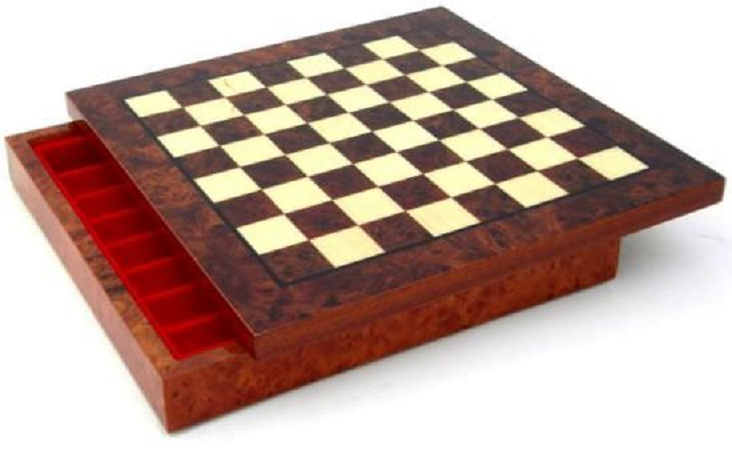 Chess Board – Root Of Elm, Hand Inlaid