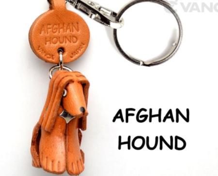 Leather Key Chain – Afghan Hound