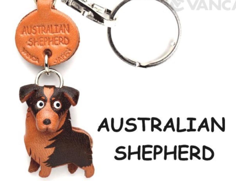 Leather Key Chain – Australian Shepherd
