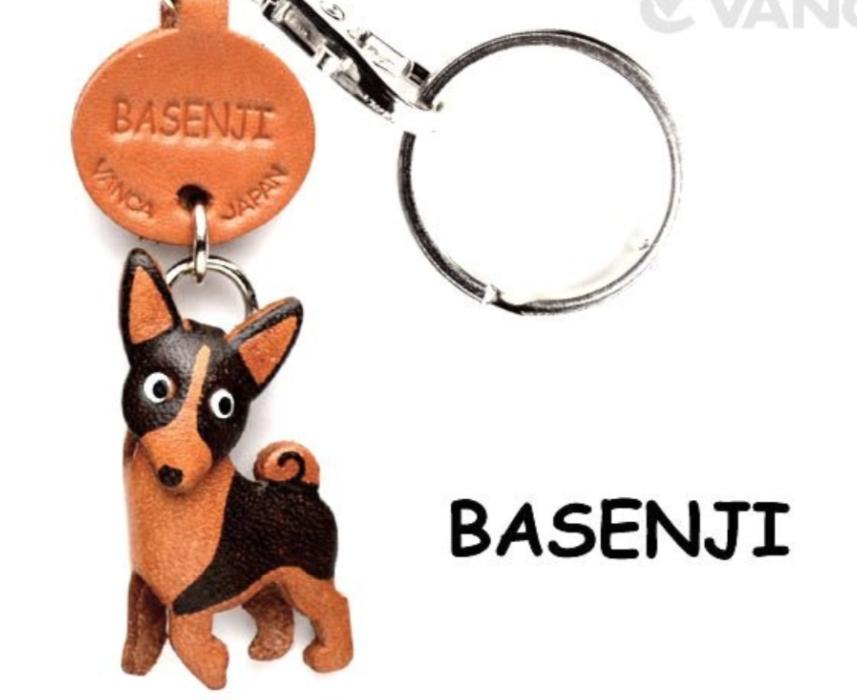 Leather Key Chain – Basenji