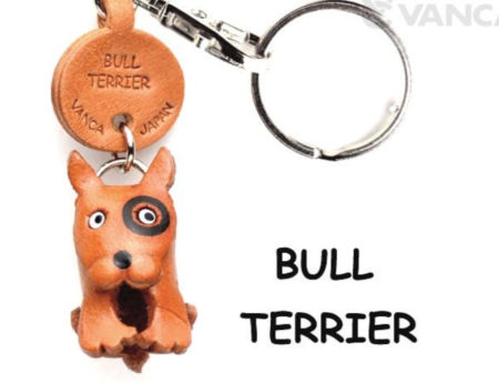 Leather Key Chain – Bull Terrier