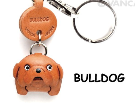 Leather Key Chain – Bulldog