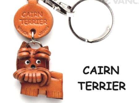 Leather Key Chain – Cairn Terrier
