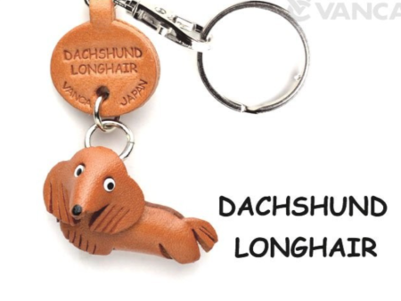 Leather Key Chain – Dachshund Longhair