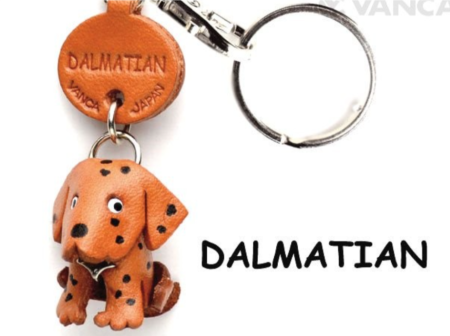 Leather Key Chain – Dalmatian