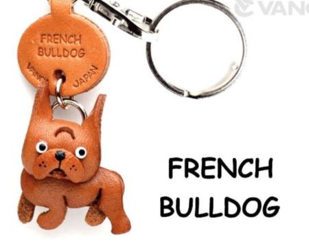 Leather Key Chain – French Bulldog