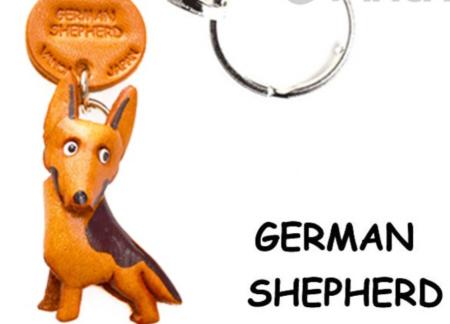 Leather Key Chain – German Shepherd