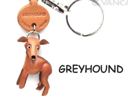 Leather Key Chain – Greyhound