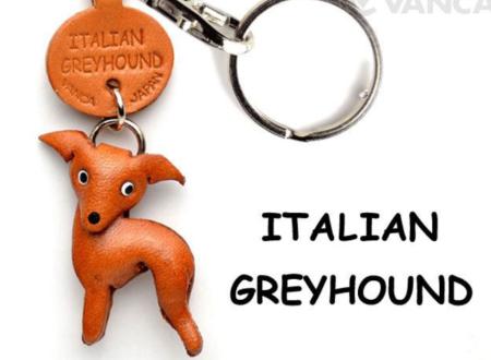 Leather Key Chain – Italian Greyhound