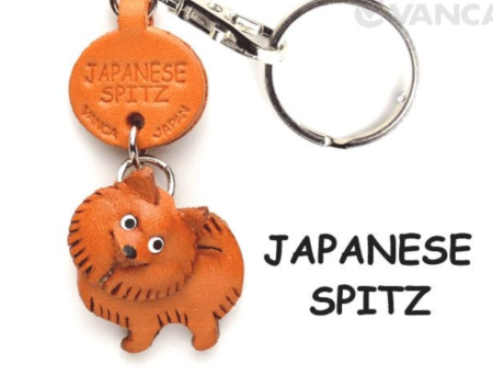 Leather Key Chain – Japanese Spitz