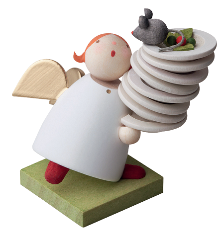 Angel With Plates