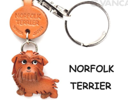 Leather Key Chain – Norfolk Terrier
