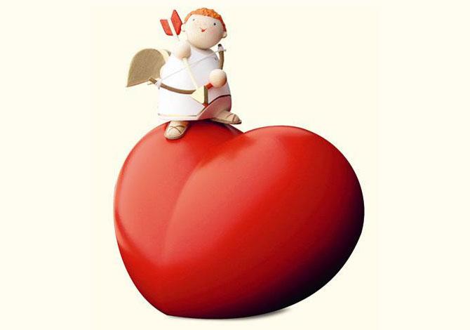 Cupid On Big Heart