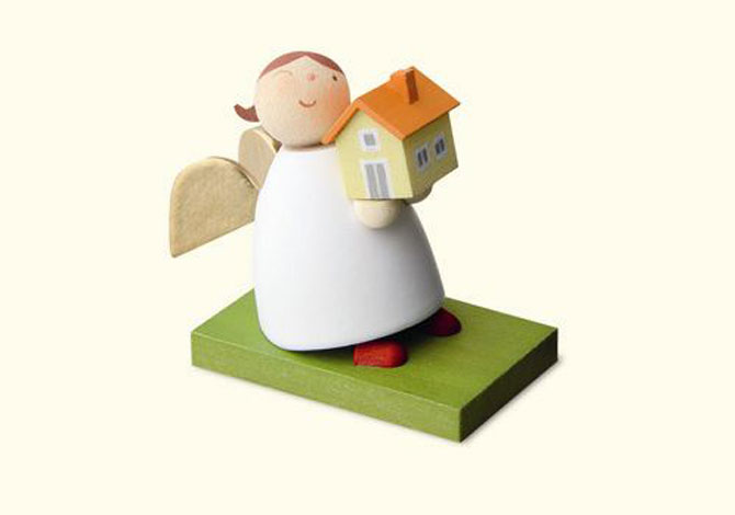 Angel With House