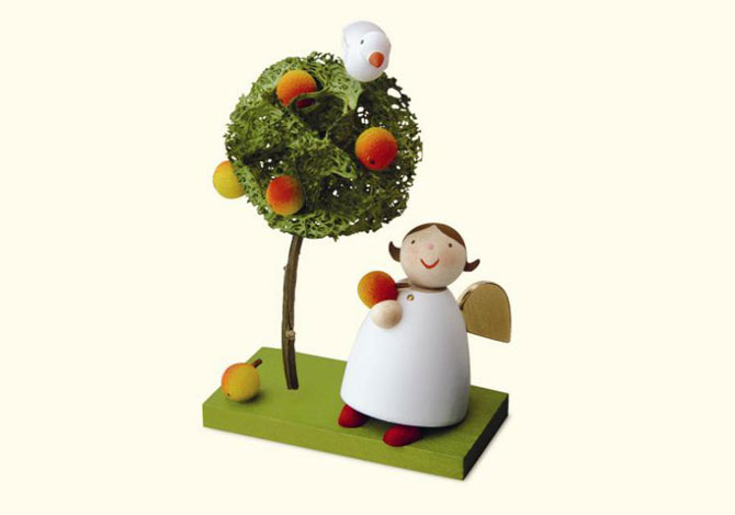 Angel With Apple Tree