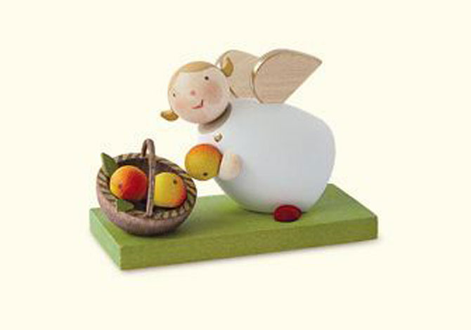 Angel With Apple Basket