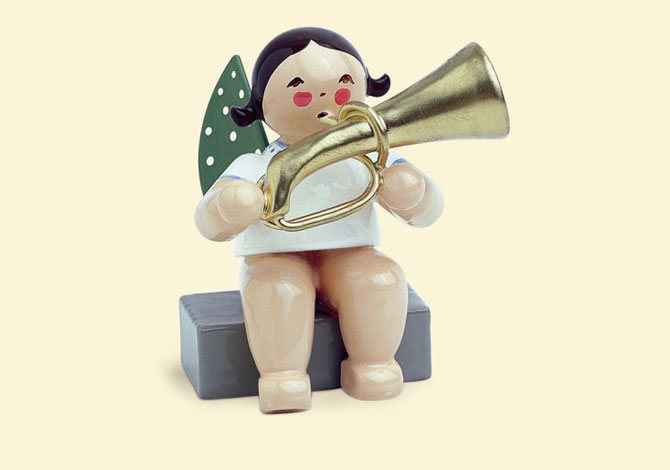 Angel With Tuba – Sitting