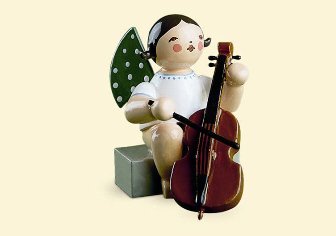 Angel With Cello – Sitting