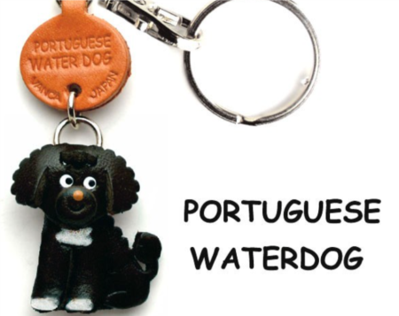 Leather Key Chain – Portuguese Waterdog
