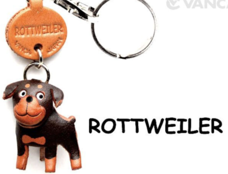 Leather Key Chain – Rottweiler