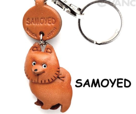 Leather Key Chain – Samoyed