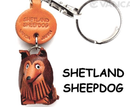 Leather Key Chain – Shetland Sheepdog