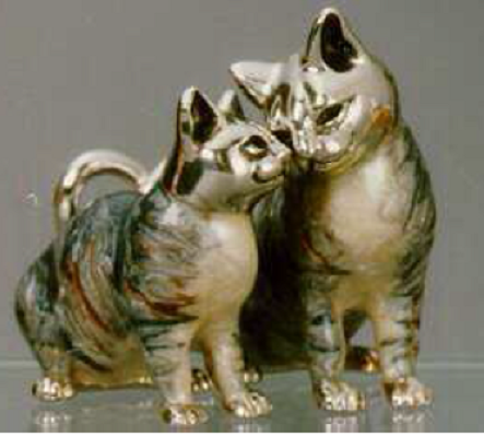 Silver Cat Couple