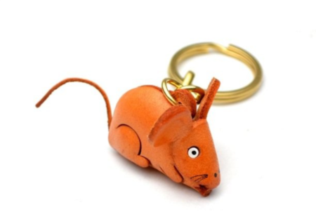 Leather Key Chain – Rat