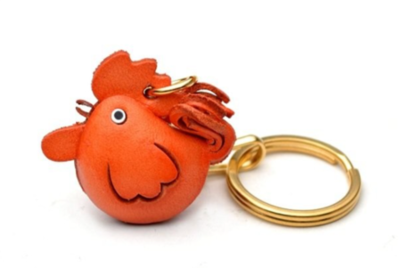 Leather Key Chain – Rooster